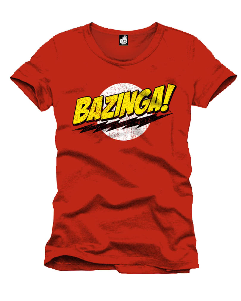 the big bang theory t shirt bazinga online kaufen horror. Black Bedroom Furniture Sets. Home Design Ideas