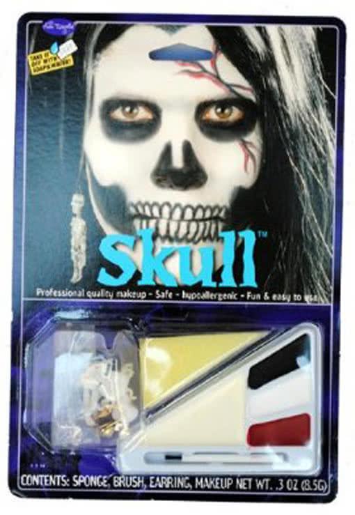 totenkopf make up kit skull schminkset totensch del horror. Black Bedroom Furniture Sets. Home Design Ideas
