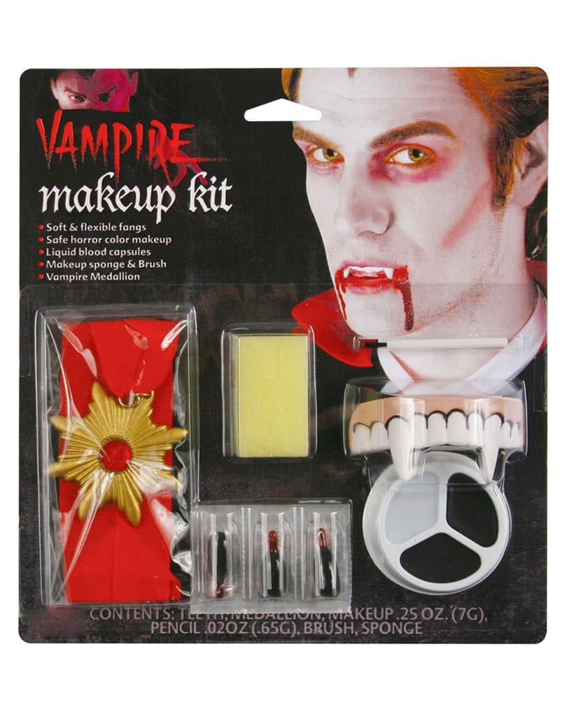 vampire make up set vampire makeup with dracula blood horror. Black Bedroom Furniture Sets. Home Design Ideas