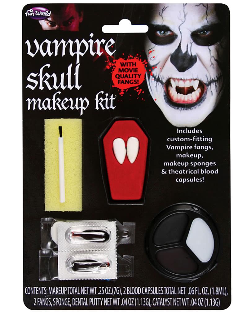 vampir totenkopf make up kit vampir schmink set horror. Black Bedroom Furniture Sets. Home Design Ideas