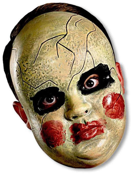 creepy doll face maske halloween puppenmaske horror. Black Bedroom Furniture Sets. Home Design Ideas