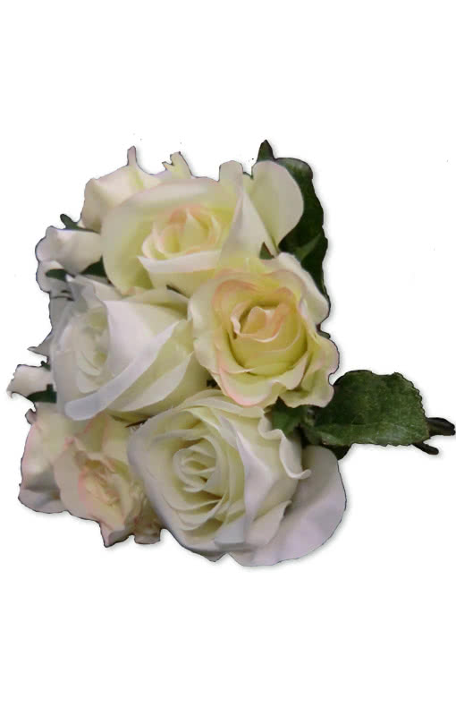 wei er rosenstrau blumen bouquet kunststoff rosen horror. Black Bedroom Furniture Sets. Home Design Ideas
