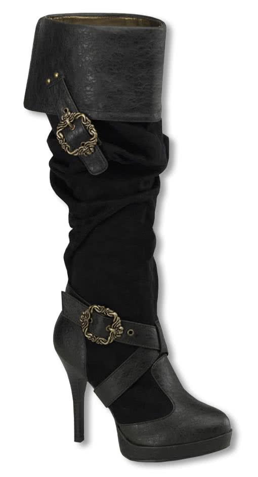 piraten stiefel mit schnallen piraten stiefel. Black Bedroom Furniture Sets. Home Design Ideas
