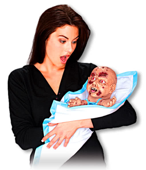 freaky zombie baby handpuppe baby zombie horrorpuppe handpuppe horror. Black Bedroom Furniture Sets. Home Design Ideas