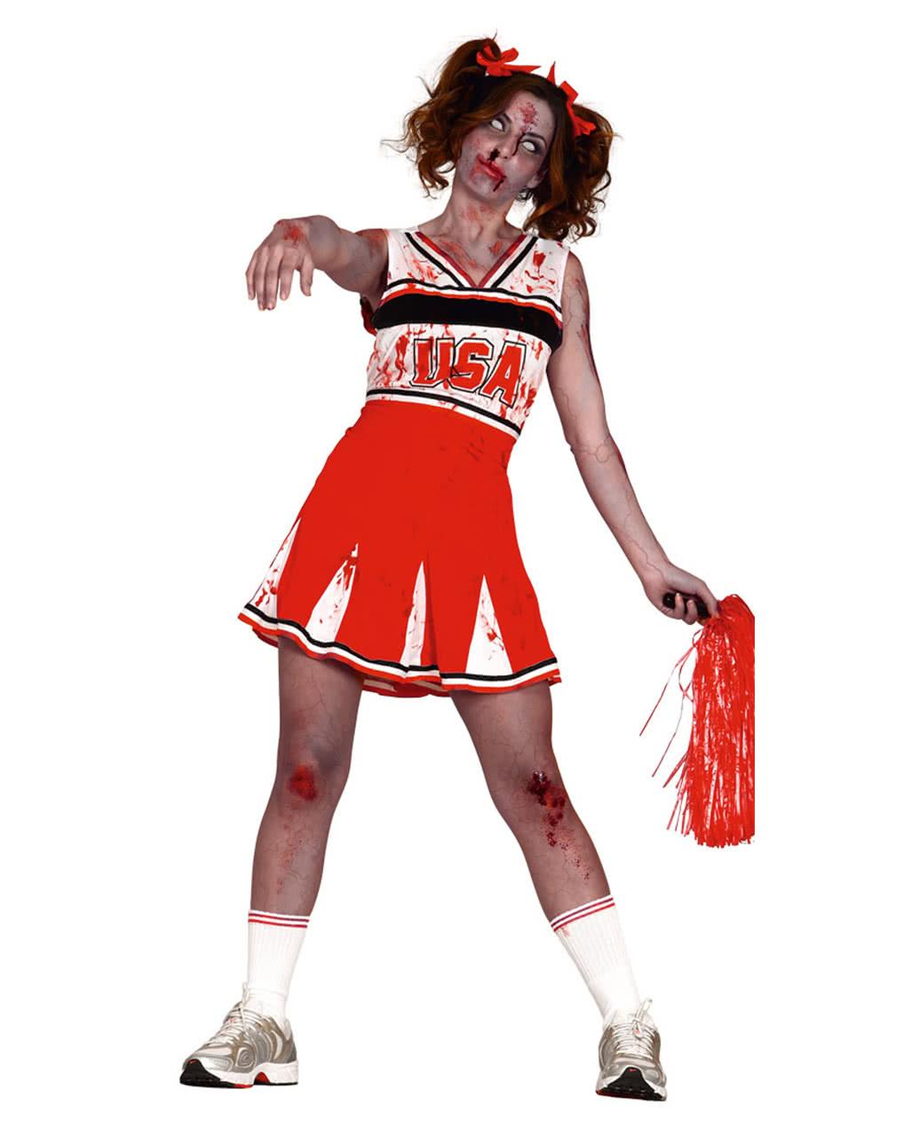cheerleader zombie kost m f r zombie walks halloween horror. Black Bedroom Furniture Sets. Home Design Ideas