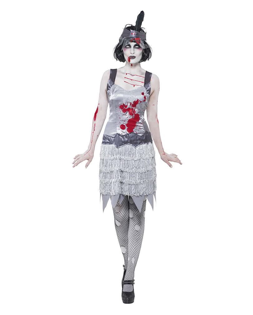 zombie flapper damenkost m horor kost m im charleston look horror. Black Bedroom Furniture Sets. Home Design Ideas