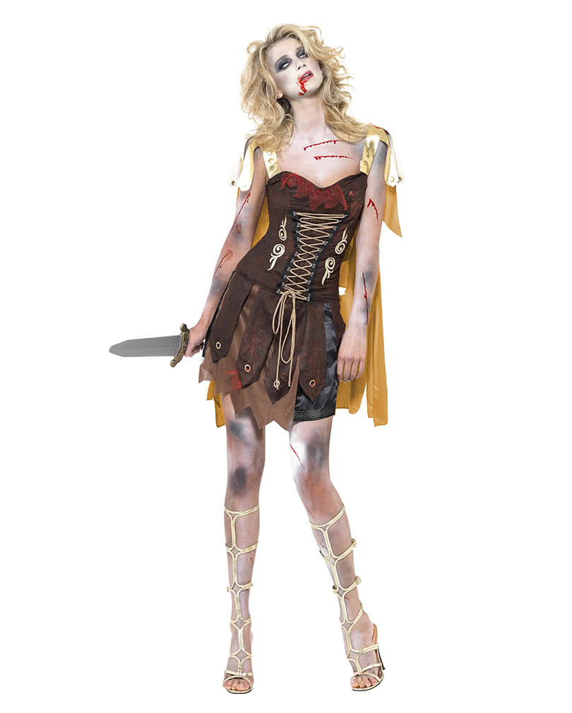 zombie gladiator damen kost m preiswertes zombie walk kost m horror. Black Bedroom Furniture Sets. Home Design Ideas