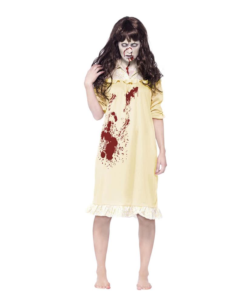 zombie sinister damenkost m blutiges nachthemd per cke horror. Black Bedroom Furniture Sets. Home Design Ideas