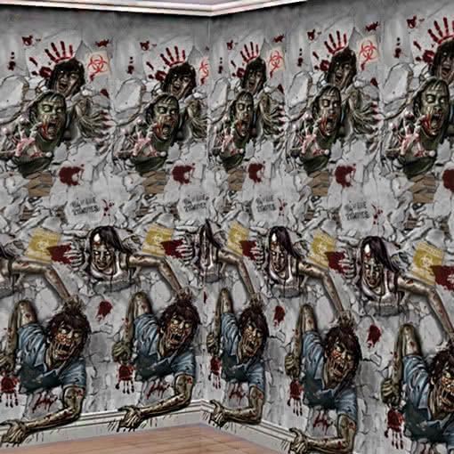 Zombie wandfolie zombie wandekoration f r zombie fans for Wandfolie schwarz