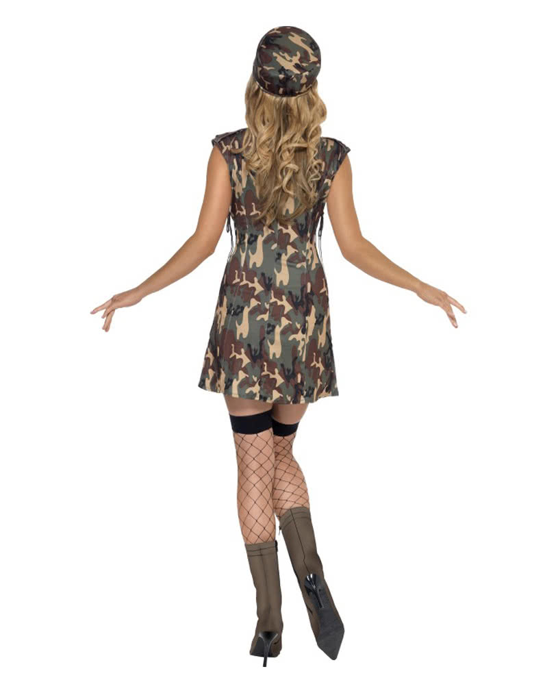 army girl kost m kurzes camouflage kleid horror. Black Bedroom Furniture Sets. Home Design Ideas