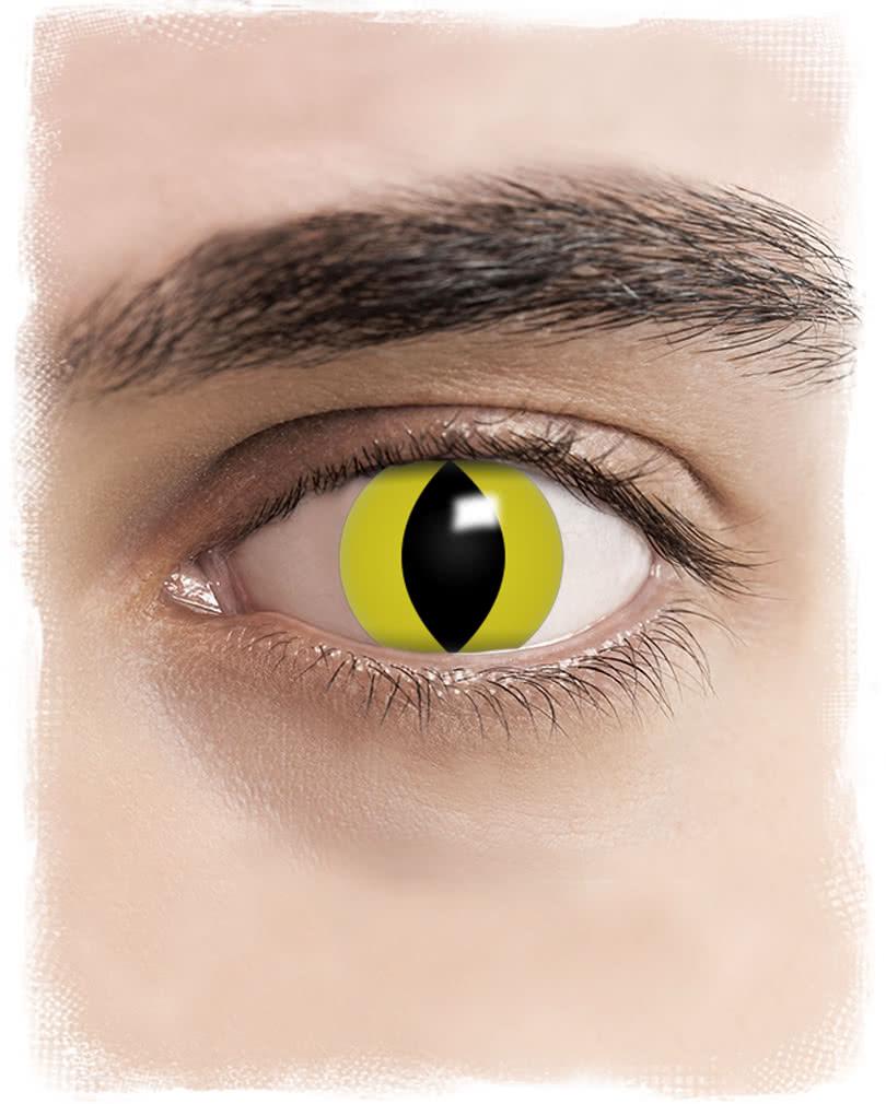 kontaktlinsen gelbe katzenaugen motiv farbige linsen jetzt online bestellen horror. Black Bedroom Furniture Sets. Home Design Ideas