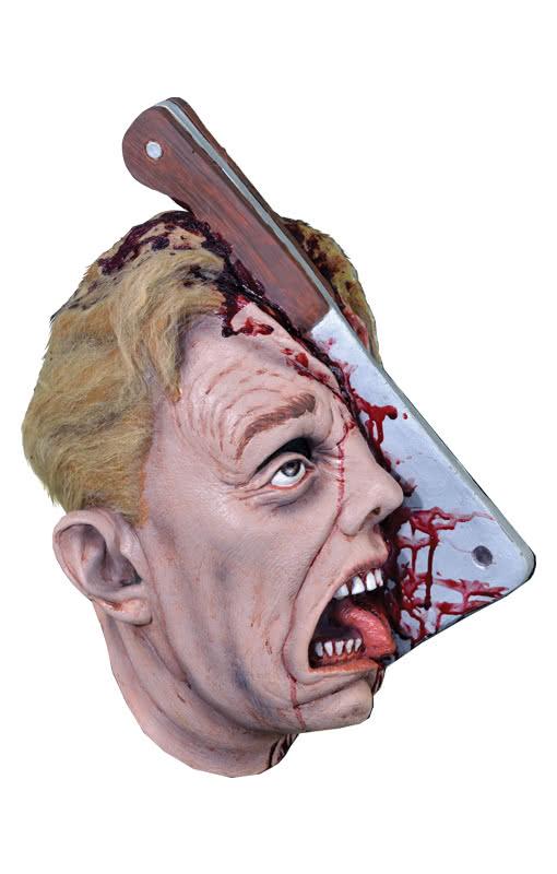 gespaltener kopf maske blutige halloween maske horror. Black Bedroom Furniture Sets. Home Design Ideas