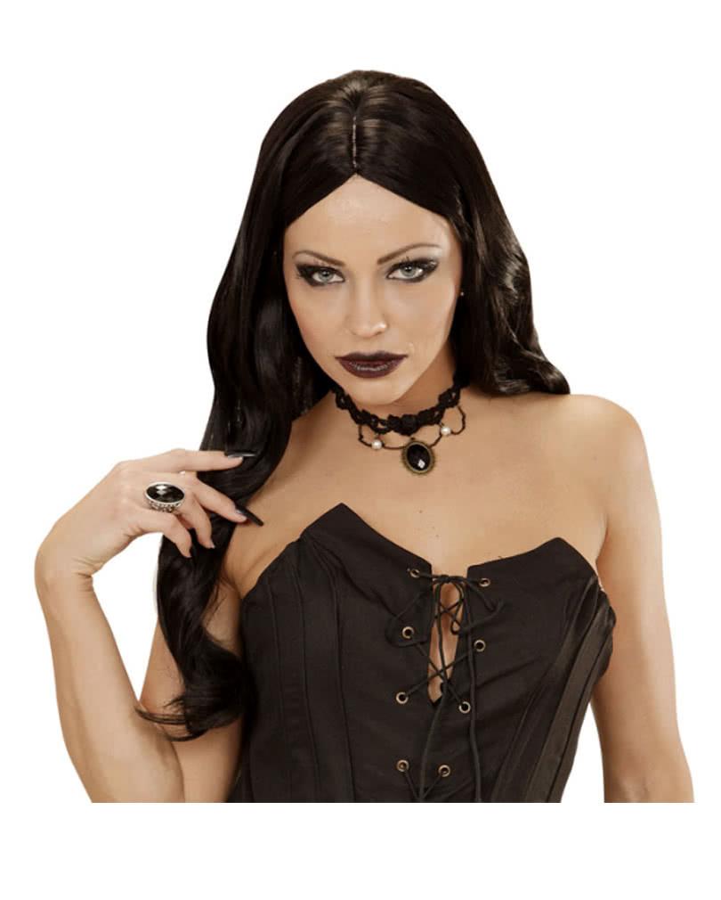 gothic halsband mit perlen und stein gothische halskette horror