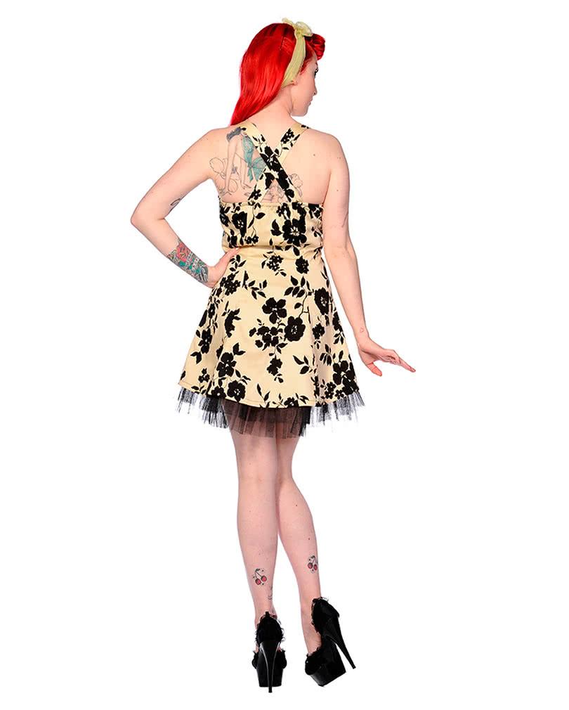 neckholder kleid mit blumen 50ies kleid petticoat kleid horror. Black Bedroom Furniture Sets. Home Design Ideas