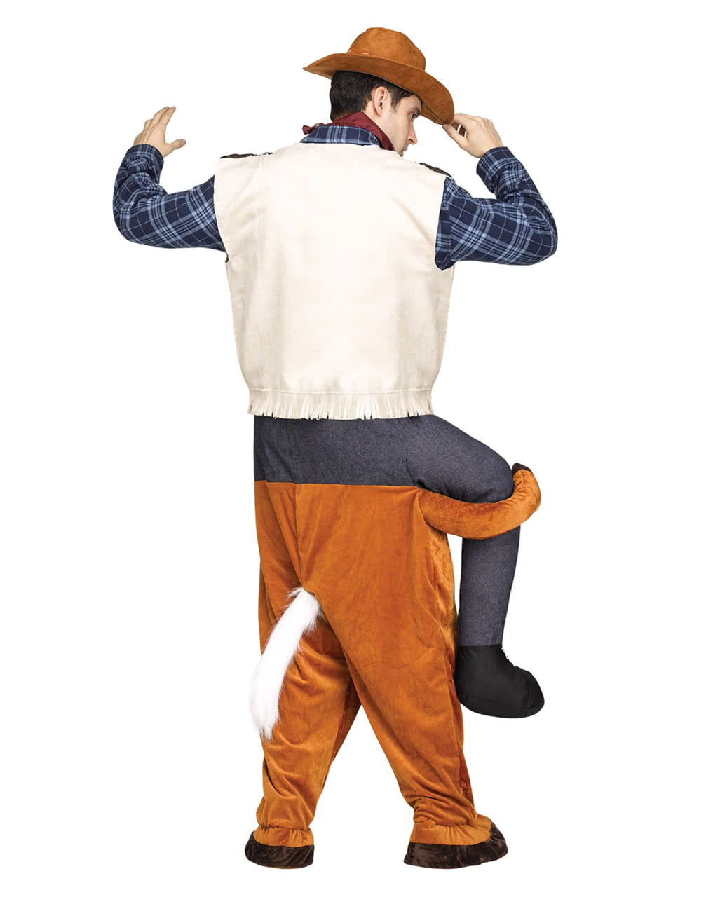 reitender cowboy carry me kost m f r fasching horror. Black Bedroom Furniture Sets. Home Design Ideas