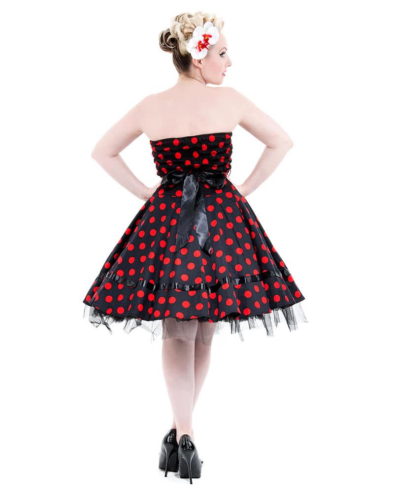 bandeau dress black polka dot dress 50s dress horror. Black Bedroom Furniture Sets. Home Design Ideas