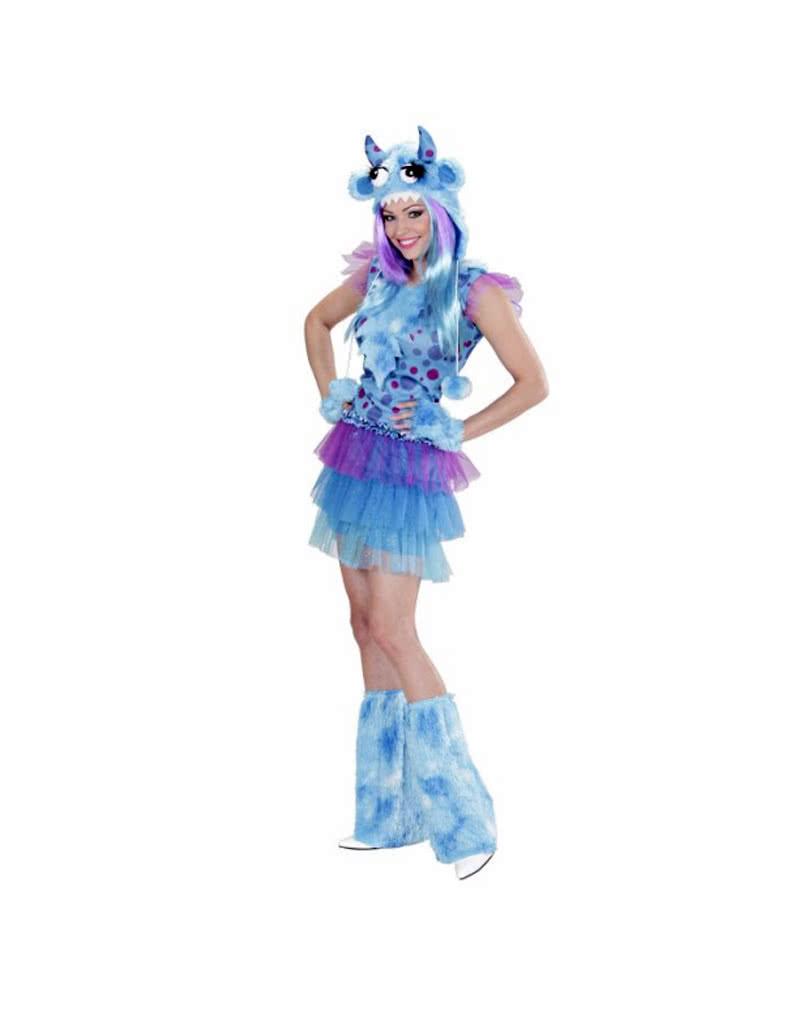 monster girl kost m blau halloween verkleidung f r. Black Bedroom Furniture Sets. Home Design Ideas