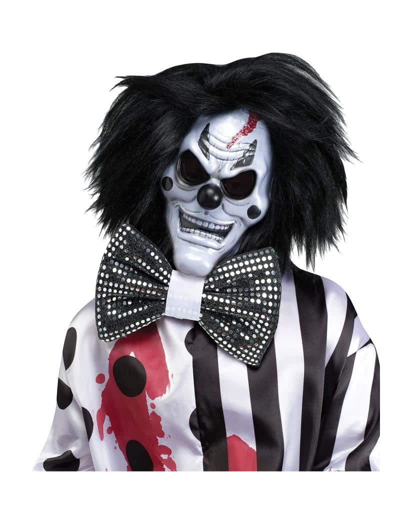 blutender clown kost m mit maske horror clown verkleidung f r halloween horror. Black Bedroom Furniture Sets. Home Design Ideas