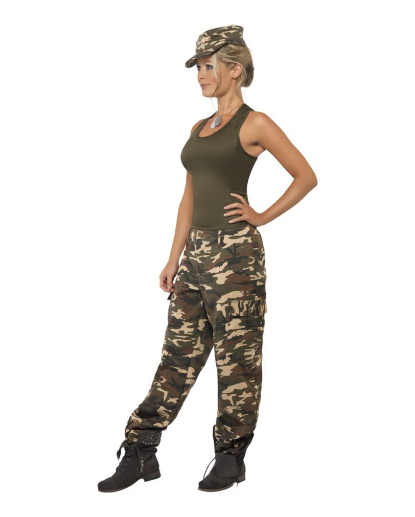 camouflage damen kost m sexy army outfit f r damen horror. Black Bedroom Furniture Sets. Home Design Ideas