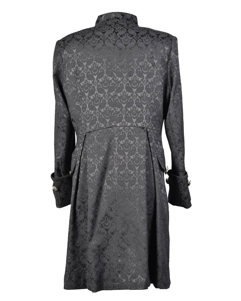 gothic brokatmantel f r m nner schwarz eleganter viktorianischer gothic mantel horror. Black Bedroom Furniture Sets. Home Design Ideas
