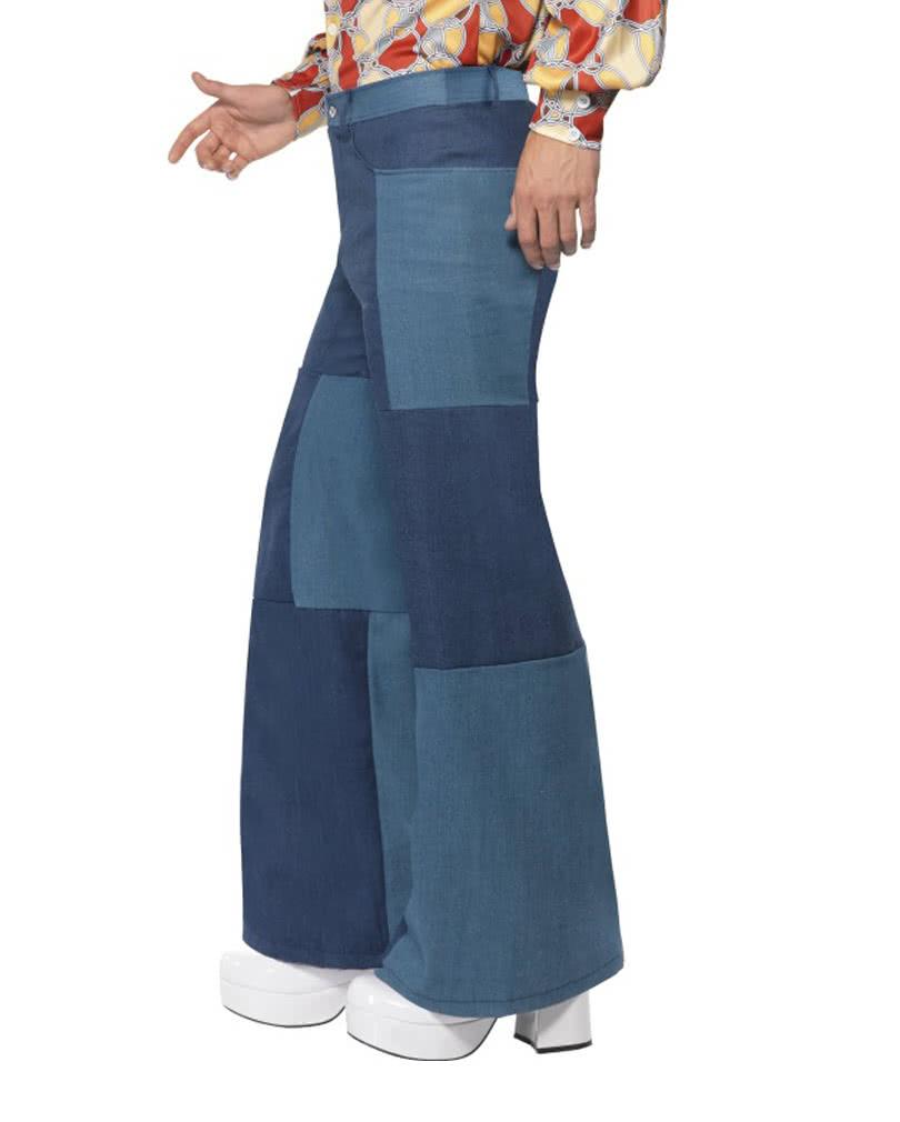 hippie pants in jeans look patchwork costume pants in. Black Bedroom Furniture Sets. Home Design Ideas