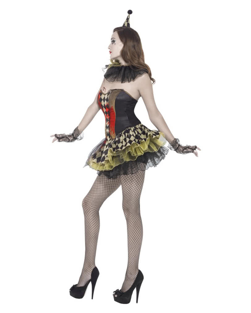 sexy zombie clown damenkost m damen halloween verkleidung horror. Black Bedroom Furniture Sets. Home Design Ideas