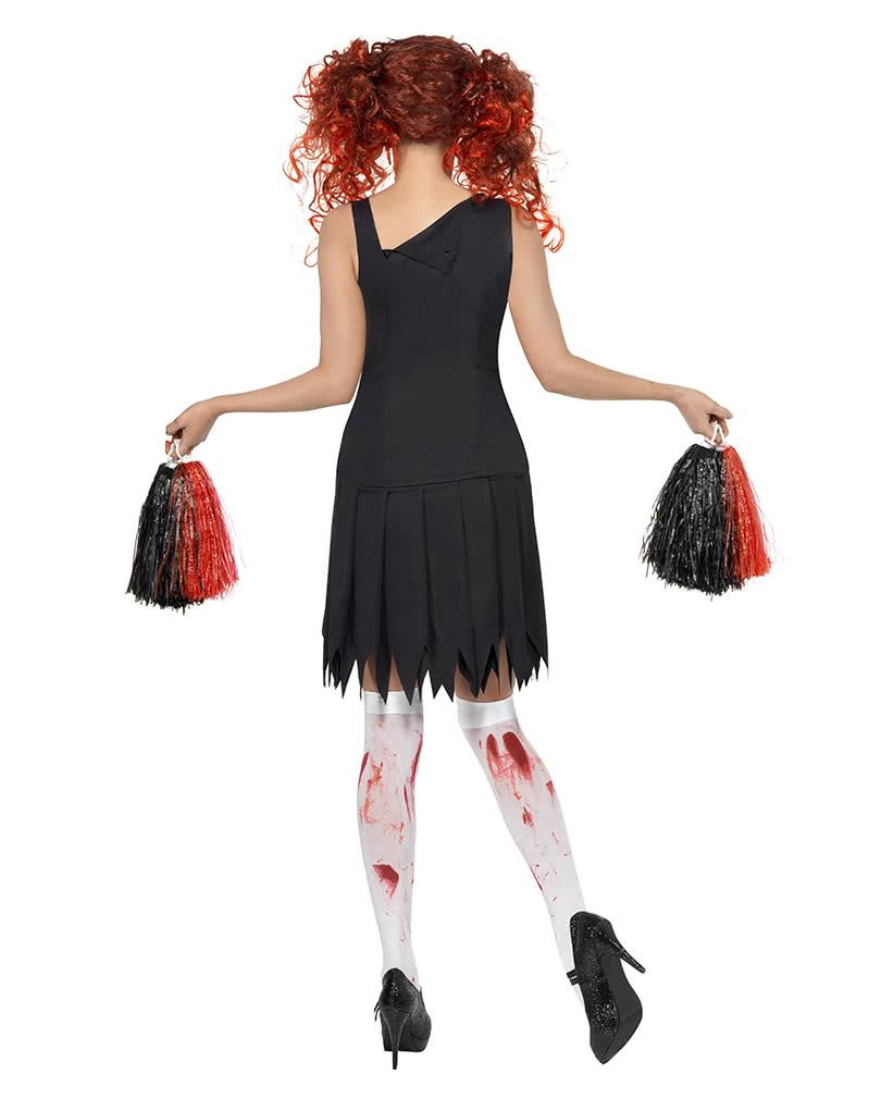 horror cheerleader kost m l zombie cheerleader uniform horror. Black Bedroom Furniture Sets. Home Design Ideas
